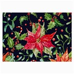 xmas flower Glasses Cloth (Large, Two Sided) Back