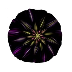 Fractal Flower Floral Abstract Standard 15  Premium Flano Round Cushions
