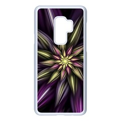 Fractal Flower Floral Abstract Samsung Galaxy S9 Plus Seamless Case(white)