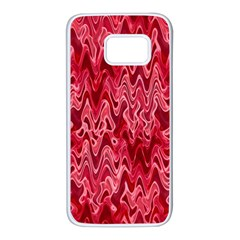 Background Abstract Surface Red Samsung Galaxy S7 White Seamless Case