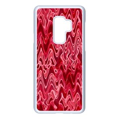 Background Abstract Surface Red Samsung Galaxy S9 Plus Seamless Case(white)