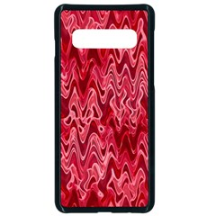 Background Abstract Surface Red Samsung Galaxy S10 Seamless Case(black)