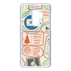 Christmas Postal Pattern Samsung Galaxy S9 Plus Seamless Case(white) by Vaneshart