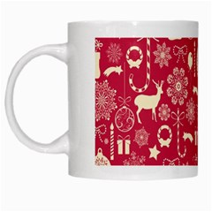 Christmas Pattern Background White Mugs by Vaneshart