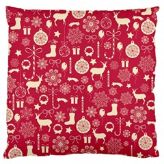Christmas Pattern Background Standard Flano Cushion Case (one Side) by Vaneshart