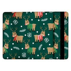 Cute Christmas Pattern Doodl Samsung Galaxy Tab Pro 12 2  Flip Case by Vaneshart