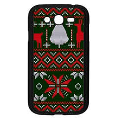 Christmas Pattern Knitted Design Samsung Galaxy Grand Duos I9082 Case (black)