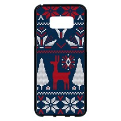 Knitted Christmas Pattern Samsung Galaxy S8 Plus Black Seamless Case