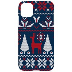 Knitted Christmas Pattern Iphone 11 Black Uv Print Case by Vaneshart