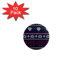 Beautiful Knitted Christmas Pattern 1  Mini Magnet (10 Pack)  by Vaneshart