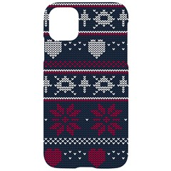 Beautiful Knitted Christmas Pattern Iphone 11 Black Uv Print Case