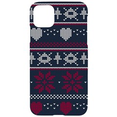 Beautiful Knitted Christmas Pattern Iphone 11 Pro Max Black Uv Print Case