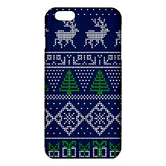 Beautiful Knitted Christmas Pattern Blur Green Iphone 6 Plus/6s Plus Tpu Case by Vaneshart