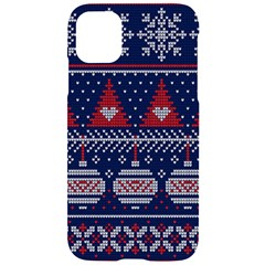 Beautiful Knitted Christmas Pattern Iphone 11 Black Uv Print Case by Vaneshart