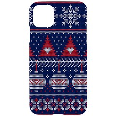 Beautiful Knitted Christmas Pattern Iphone 11 Pro Max Black Uv Print Case by Vaneshart