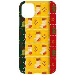 Knitted Christmas Pattern With Socks Bells Iphone 11 Black Uv Print Case