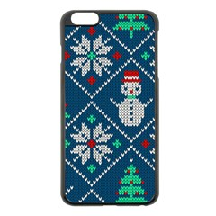 Knitted Christmas Pattern Iphone 6 Plus/6s Plus Black Enamel Case