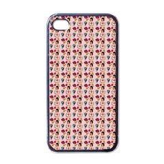 Valentine Girl Pink Iphone 4 Case (black) by snowwhitegirl