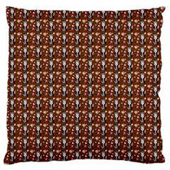 Chrix Pat Russet Standard Flano Cushion Case (one Side) by snowwhitegirl