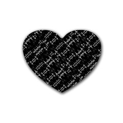 Black And White Ethnic Geometric Pattern Heart Coaster (4 Pack)  by dflcprintsclothing