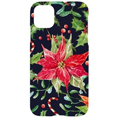 Xmas Flower Iphone 11 Black Uv Print Case by xmasyancow