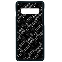 Black And White Ethnic Geometric Pattern Samsung Galaxy S10 Seamless Case(black) by dflcprintsclothing