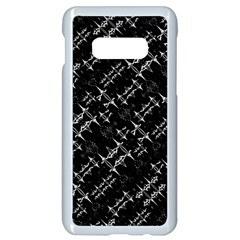 Black And White Ethnic Geometric Pattern Samsung Galaxy S10e Seamless Case (white)