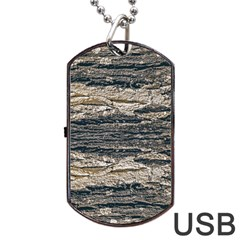 Surface Texture Print Dog Tag Usb Flash (two Sides) by dflcprintsclothing