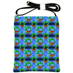 Christmas Wreath Shoulder Sling Bag by bloomingvinedesign