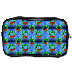 Christmas Wreath Toiletries Bag (two Sides) by bloomingvinedesign