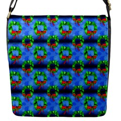 Christmas Wreath Flap Closure Messenger Bag (s) by bloomingvinedesign