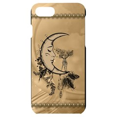 Deer On A Mooon Iphone 7/8 Black Uv Print Case by FantasyWorld7