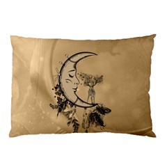 Deer On A Mooon Pillow Case by FantasyWorld7
