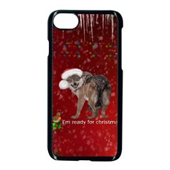 I m Ready For Christmas, Funny Wolf Iphone 7 Seamless Case (black) by FantasyWorld7