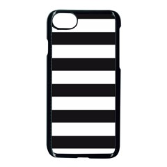 Black And White Large Stripes Goth Mime French Style Iphone 7 Seamless Case (black)