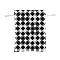 Square Diagonal Pattern Seamless Lightweight Drawstring Pouch (l)