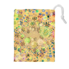 Flowers Color Colorful Watercolour Drawstring Pouch (xl)