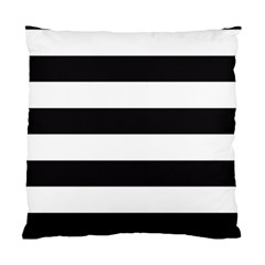 Black And White Large Stripes Goth Mime French Style Standard Cushion Case (two Sides) by genx
