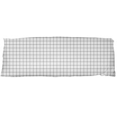 Aesthetic Black And White Grid Paper Imitation Body Pillow Case Dakimakura (two Sides) by genx