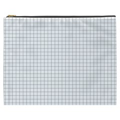 Aesthetic Black And White Grid Paper Imitation Cosmetic Bag (xxxl) by genx