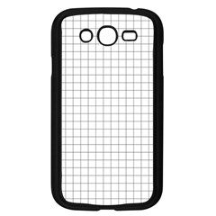 Aesthetic Black And White Grid Paper Imitation Samsung Galaxy Grand Duos I9082 Case (black) by genx
