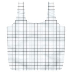 Aesthetic Black And White Grid Paper Imitation Full Print Recycle Bag (xl) by genx