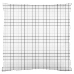 Aesthetic Black And White Grid Paper Imitation Large Flano Cushion Case (one Side) by genx