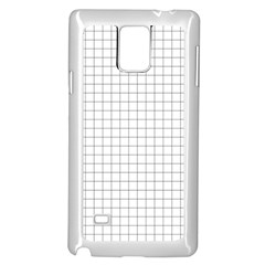 Aesthetic Black And White Grid Paper Imitation Samsung Galaxy Note 4 Case (white) by genx