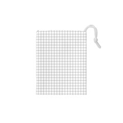 Aesthetic Black And White Grid Paper Imitation Drawstring Pouch (xs) by genx