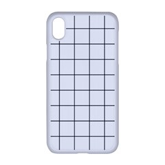 Aesthetic Black And White Grid Paper Imitation Iphone Xr Seamless Case (white)