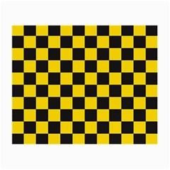 Checkerboard Pattern Black And Yellow Ancap Libertarian Small Glasses Cloth (2 Sides) by snek