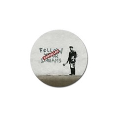 Banksy Graffiti Original Quote Follow Your Dreams Cancelled Cynical With Painter Golf Ball Marker (4 Pack) by snek