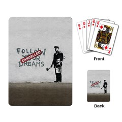 Banksy Graffiti Original Quote Follow Your Dreams Cancelled Cynical With Painter Playing Cards Single Design (rectangle) by snek