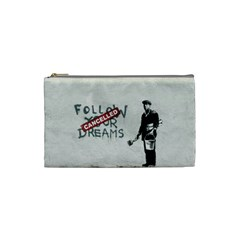 Banksy Graffiti Original Quote Follow Your Dreams Cancelled Cynical With Painter Cosmetic Bag (small) by snek